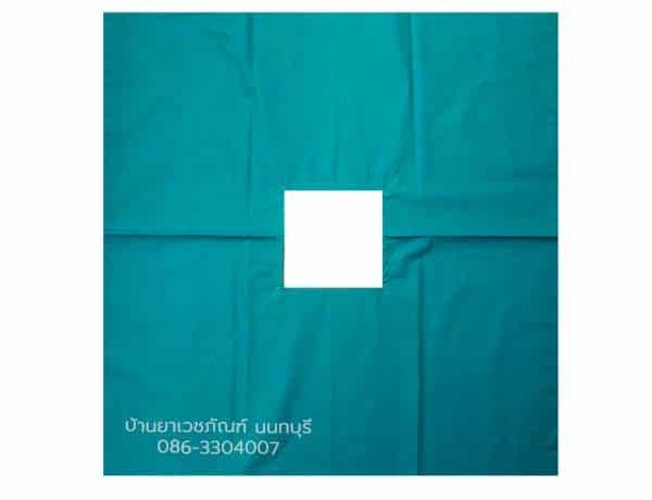 ผ้าเจาะกลาง เจาะกลางสี่เหลี่ยม